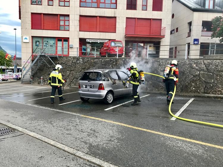 Fahrzeugbrand Bahnhof Goldau