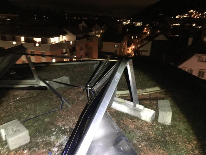 Schaden auf dem Dach