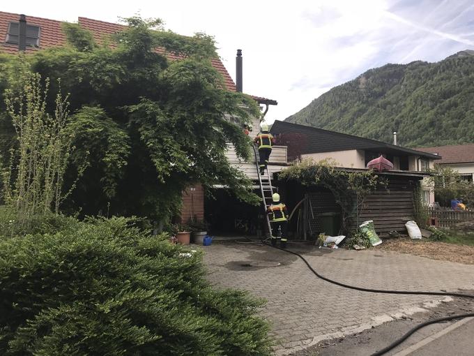Fassadenbrand Oberarth