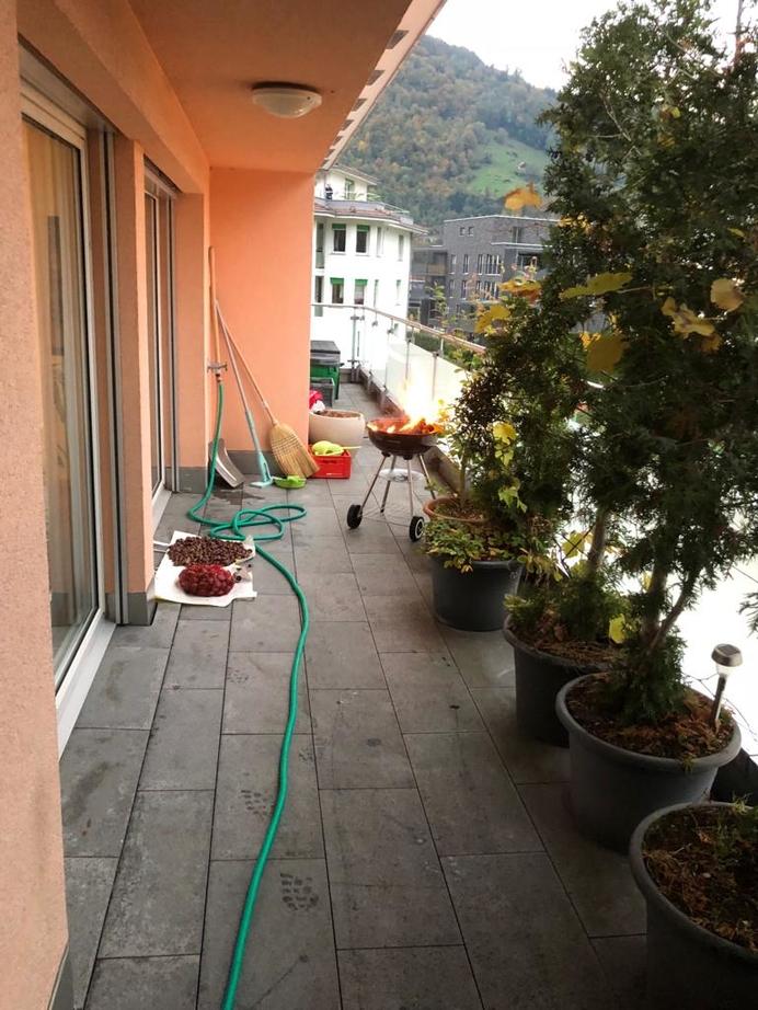 Grillbrand auf Balkon